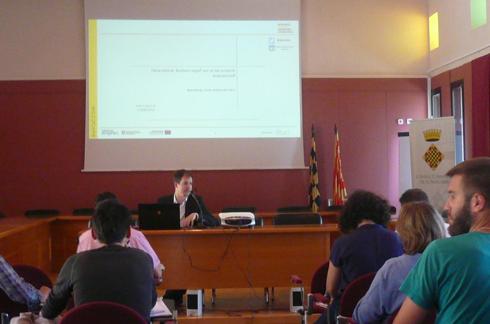 Classe sobre emprenedoria i finançament alternatiu al Consell Comarcal de la Noguera