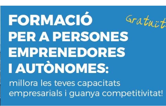 FORMACIÓ PER A PERSONES EMPRENEDORES I AUTÒNOMS