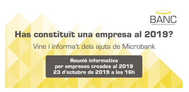 Reunió Informativa Microbank per empreses creades al 2019