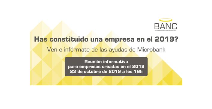 Reunión Informativa Microbank para empresas creadas en el 2019